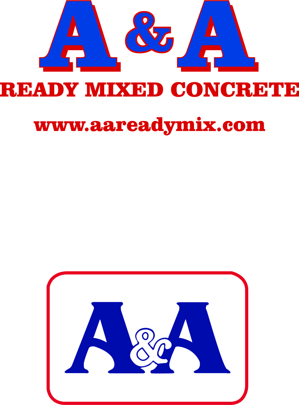 A&A Ready Mixed Concrete logo